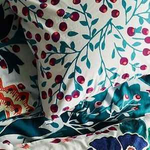 Liberty for Anthro Embroidered Feather Bloom Shams